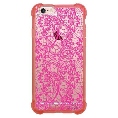 Capa Intelimix Anti-Impacto Rosa Apple iPhone 6 6s Rendas - TP282