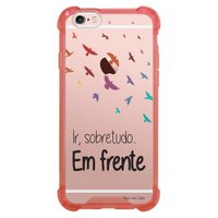 Capa Intelimix Anti-Impacto Rosa Apple iPhone 6 6s Frases - TP43