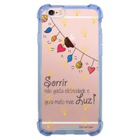 Capa Intelimix Anti-Impacto Azul Apple iPhone 6 6s Frases - TP115