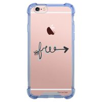 Capa Intelimix Anti-Impacto Azul Apple iPhone 6 6s Frases - TP245