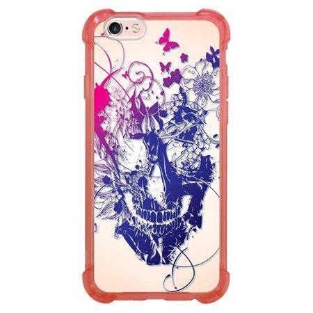 Capa Intelimix Anti-Impacto Rosa Apple iPhone 6 6s Caveira - CV31