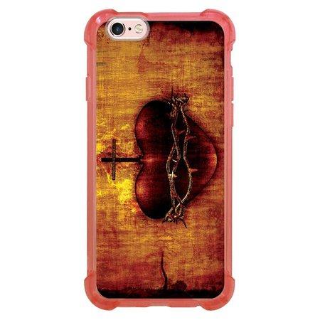Capa Intelimix Anti-Impacto Rosa Apple iPhone 6 6s Religião - RE08