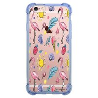 Capa Intelimix Anti-Impacto Azul Apple iPhone 6 6s Flamingos - TP318