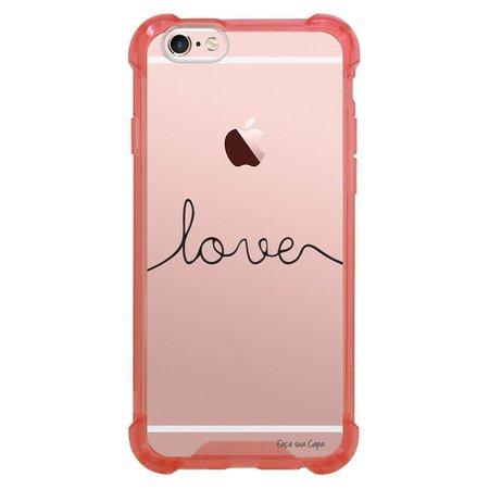 Capa Intelimix Anti-Impacto Rosa Apple iPhone 6 6s Frases - TP151