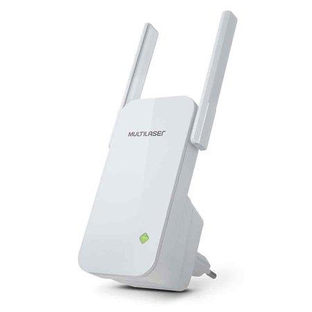 Repetidor 300Mbps 2 Antenas Externas Branco Multilaser - RE056