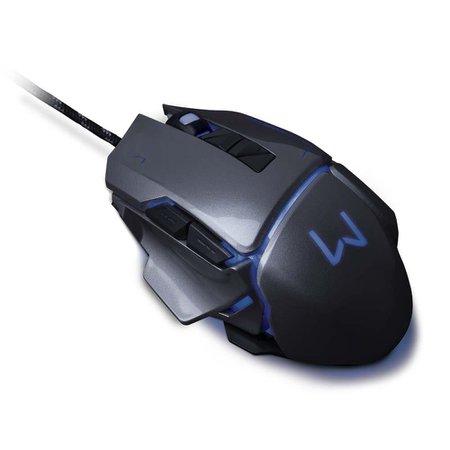 Mouse Gamer 3200 Dpi Grafite Usb Warrior - MO262