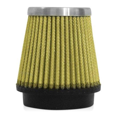 Filtro de Ar Esportivo Rs Air Filter Cônico 70 mm Amarelo