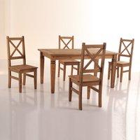Conjunto Mesa + Cadeira Salvador Madeira