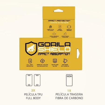 Película Nano Gel Dupla + traseira fibra de carbono para Asus Zenfone 3 Max 5.5 ZC553KL - Gorila Shield