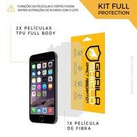 Película Nano Gel Dupla + traseira fibra de carbono para iPhone 6 e 6s - Gorila Shield
