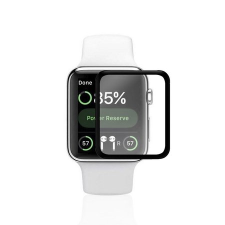 Película Nano Gel Dupla com Bordas Pretas para Apple Watch 42mm - Gorila Shield