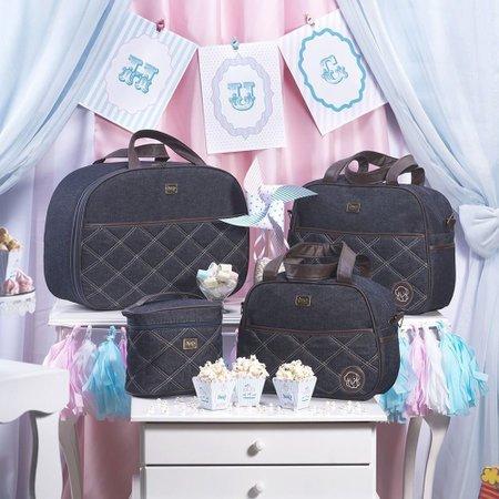 Bolsa Maternidade Versinho Jeans Azul Marinho G - Hug Baby