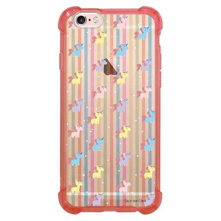 Capa Intelimix Anti-Impacto Rosa Apple iPhone 6 6s Unicórnios - TP310