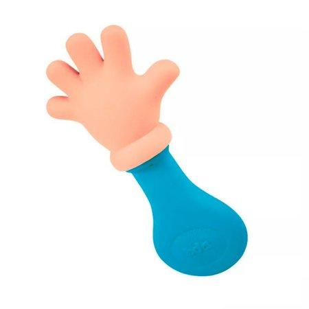 Mordedor e Chocalho Mãozinha Azul - Toyster