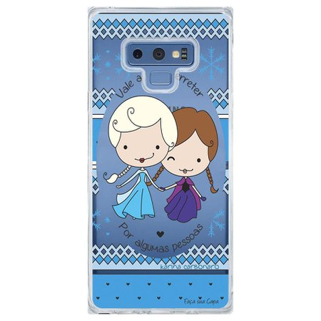 Capa Personalizada Samsung Galaxy Note 9 Princesas Elsa e Anna - TP125