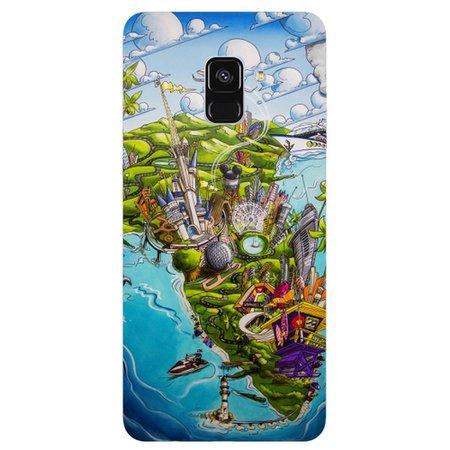 Capa Personalizada para Samsung Galaxy A8 2018 - De Orlando á Miami - DE29