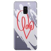 Capa Personalizada para Samsung Galaxy A8 2018 - Love - TP382