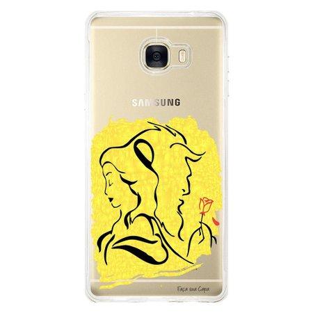 Capa Personalizada para Samsung Galaxy C7 C700 Bela e a Fera - FM01
