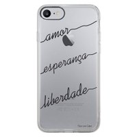 Capa Intelimix Intelislim Apple iPhone 7 Frases - TP46