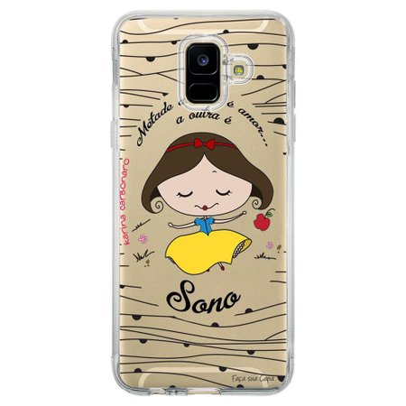 Capa Personalizada Samsung Galaxy A6 A600 Princesa Branca de Neve - TP101