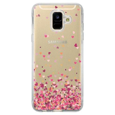 Capa Personalizada Samsung Galaxy A6 A600 Corações - TP48