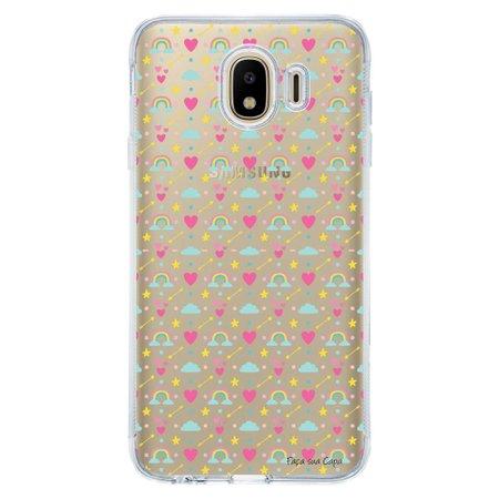 Capa Personalizada Samsung Galaxy J4 J400M Corações - TP244