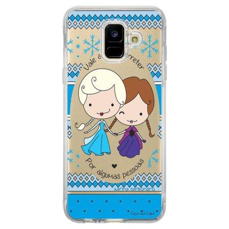 Capa Personalizada Samsung Galaxy A6 A600 Princesas Elsa e Anna - TP125