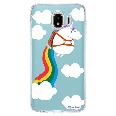 Capa Personalizada para Samsung Galaxy J4 J400M Unicórnio - TP184