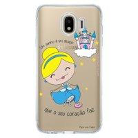 Capa Personalizada para Samsung Galaxy J4 J400M Princesa Cinderela - TP127