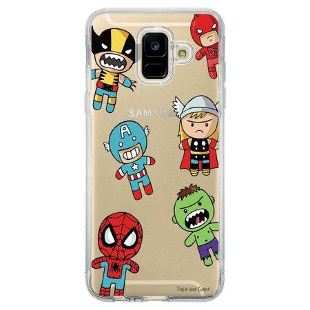 Capa Personalizada para Samsung Galaxy A6 A600 Super Heróis - TP118