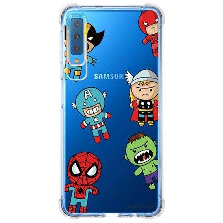 Capa Personalizada Samsung Galaxy A7 2018 Super Heróis - TP118