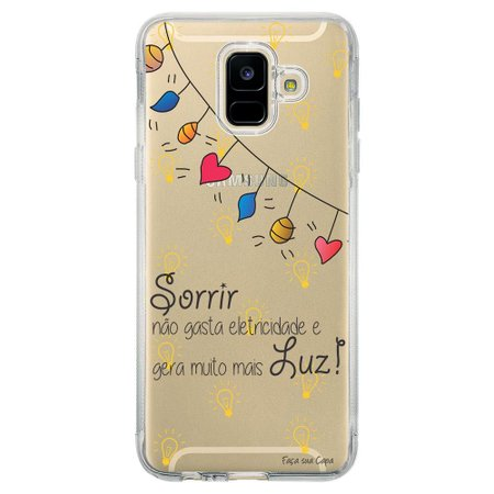 Capa Personalizada Samsung Galaxy A6 A600 Frases - TP115