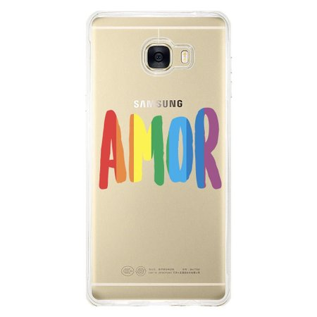 Capa Personalizada para Samsung Galaxy C7 C700 LGBT - LB01