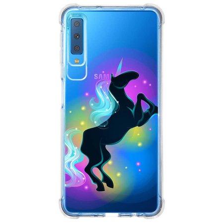Capa Personalizada Samsung Galaxy A7 2018 Unicórnios - UN03