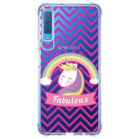 Capa Personalizada Samsung Galaxy A7 2018 Unicórnios - UN05