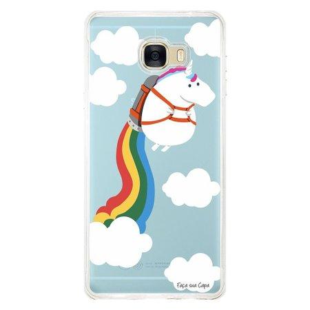 Capa Personalizada para Samsung Galaxy C7 C700 Unicórnio - TP184