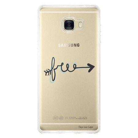 Capa Personalizada para Samsung Galaxy C7 C700 Frases - TP245