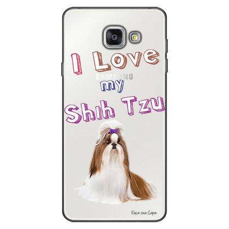 Capa Personalizada para Samsung Galaxy A9 A910 Eu Amo Meu Shih-Tzu - TP85