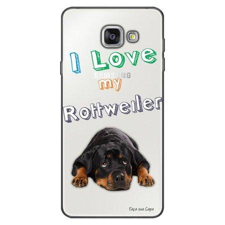 Capa Personalizada para Samsung Galaxy A9 A910 Eu Amo Meu Rottweiler - TP84