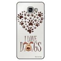 Capa Personalizada para Samsung Galaxy A9 A910 I Love Dogs - TP116