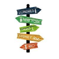 Placa de mdf Decorativa ''Cidades'' 45x25 - D'Rossi