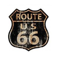 Placa de mdf Decorativa ''Route 66'' 29x28 - D'Rossi
