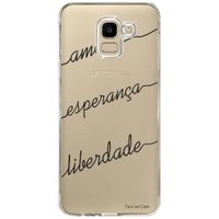 Capa Personalizada Samsung Galaxy J6 J600 Frases - TP46