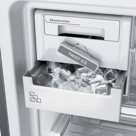 Geladeira Brastemp Frost Free Inverse 443 litros cor Inox com Turbo Ice