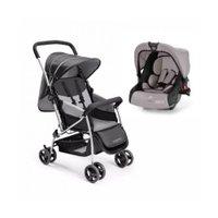 Carrinho de Bebê Travel System com Bebê Conforto 0 a 15 Kg Flip  Cinza - Multikids