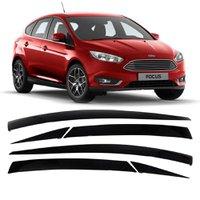 Calha de Chuva Acrilica Adesiva Gm Ford Focus Hatch 2014 a 2017 4 Portas 6 Peças