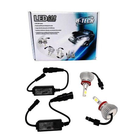 Kit Lâmpada Ultra Led Headlight H9 6000K 12V e 24V Efeito Xenon