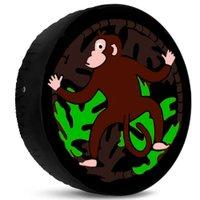 Capa para Estepe Macaco Na Floresta Ecosport CrossFox 2003 a 2017 Com Cadeado