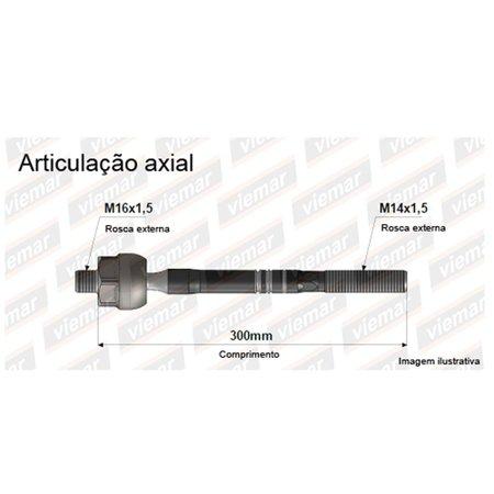Barra Axial Hidráulica Bortec Vw CrossFox SpaceFox Fox Polo Gol Saveiro G5 Voyage Unidade