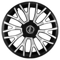 Calota Esportiva Triton Aro 14 Black Silver Encaixe Universal